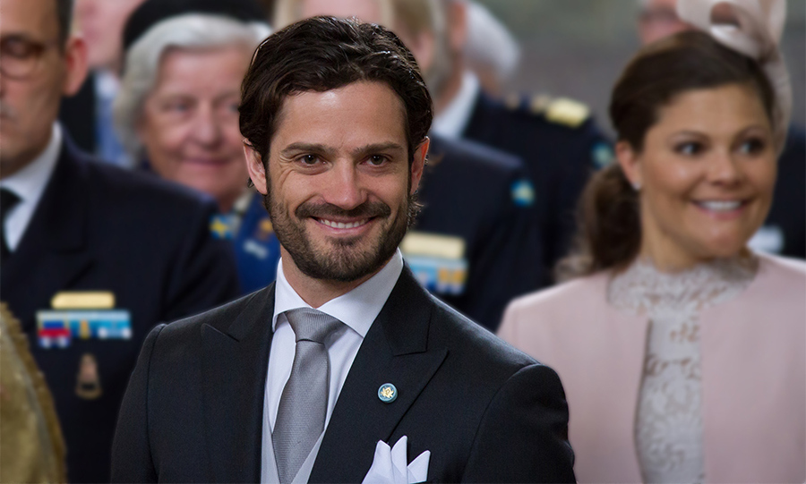 Prince Carl Philip attends the Te Deum thanksgiving service for his newborn son.