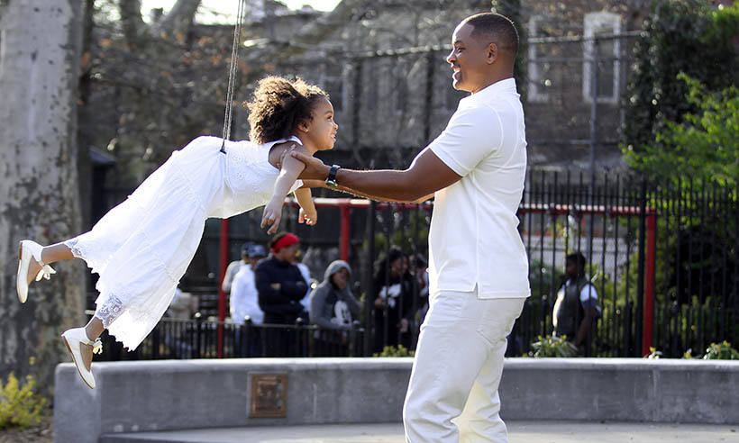 Young actress Alyssa Cheatham got some serious air while filming <em>Collateral Beauty</em> with Will Smith in Brooklyn.