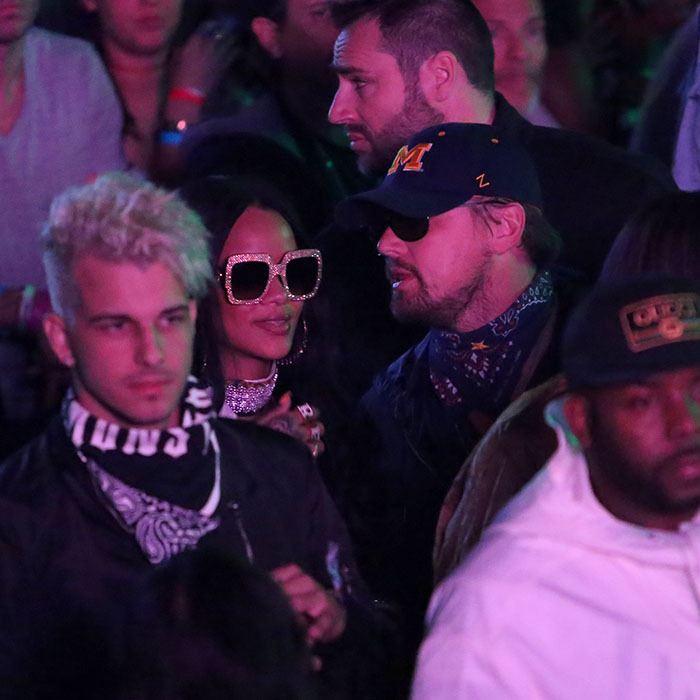 Rihanna and rumoured beau Leonardo DiCaprio shared a dance at the Neon Carnival on the first weekend of Coachella. 