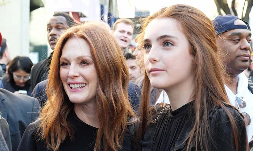 Julianne Moore and her lookalike daughter Liv Freundlich made the <em>Wolves</em> premiere at the Tribeca Film Festival a family affair as they supported the coming-of-age tale directed by Bart Freundlich (Julianne's husband and Liv's dad). 