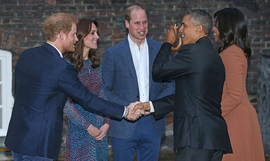 Prince William, Prince Harry and Kate met the Obamas earlier this week.