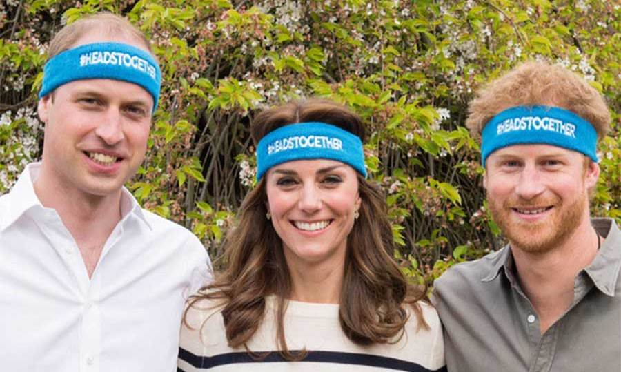Prince William, Prince Harry and Kate teamed up together to support the Heads Together campaign.