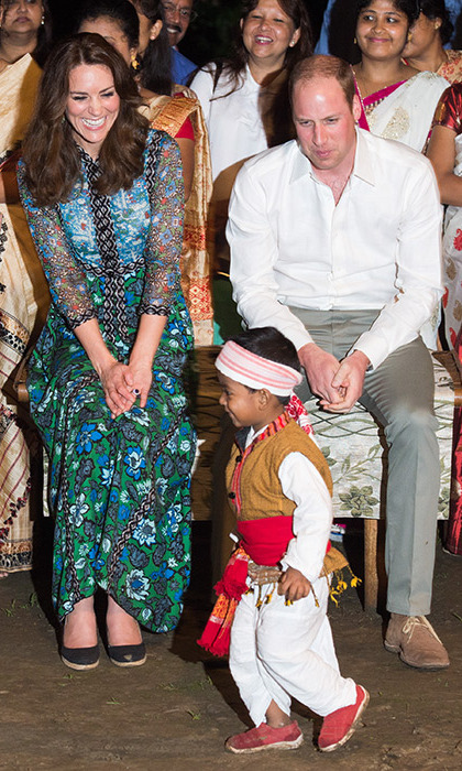 <p>At the Kaziranga National Park, William and Kate were particularly charmed by one little boy, who put on a lively dance for the couple at a campfire celebration.