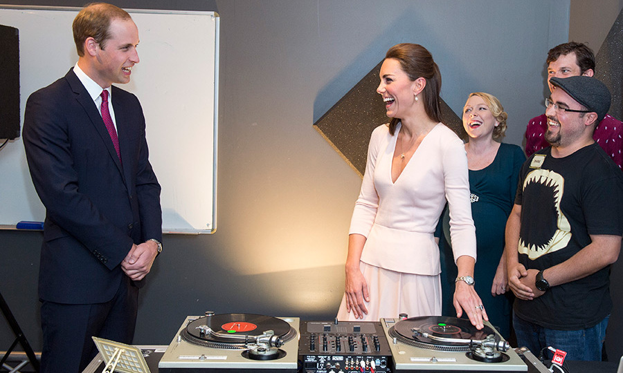 <p>William teased his wife as she had a go DJing during their tour of Australia in 2014.