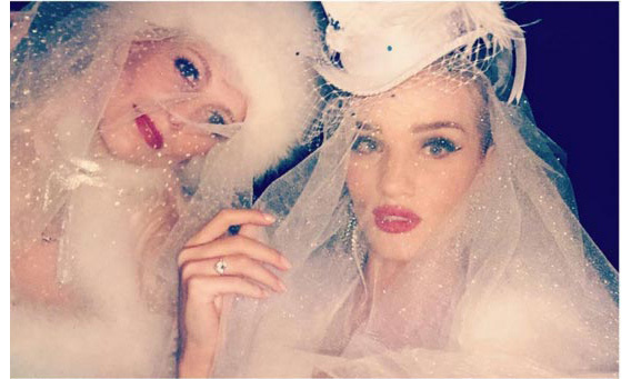 """Best Costume Party Partner @poppydelevingne #Hotmess #Brides ,"" wrote supermodel Rosie.