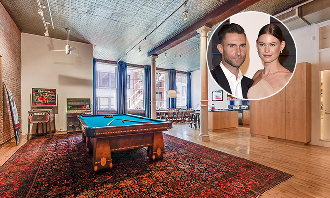 With a baby on the way, Adam Levine and Behati Prinsloo are looking to set down some roots. While their sleek and sophisticated SoHo loft is the residential equivalent of their cool and trendy approach to life, it screams newlywed bliss versus first-time parents. 