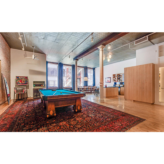 The loft is located in a 1900s cast iron building in Manhattan's trendy SoHo neighbourhood. 