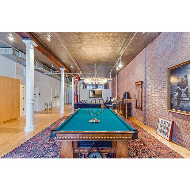 The loft is perfect for entertaining. 