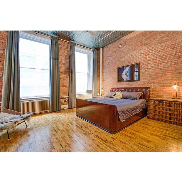 The couple reportedly converted the loft's original three bedrooms into one large master suite. 