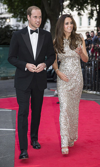 <strong>First night out after giving birth to Prince George: September 2013