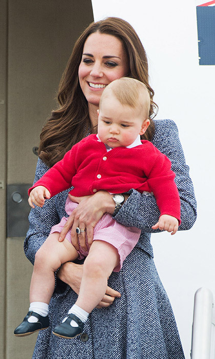 <strong>The couple's first royal tour with Prince George: April 2014