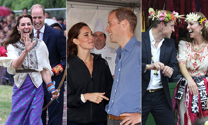 From the moment they made their debut as an engaged couple in Nov. 2010, Prince William and Kate have never stopped making each other laugh. 