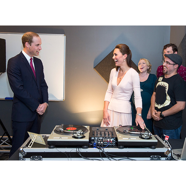The couple had a blast trying their hand at DJing while on tour in Australia. 