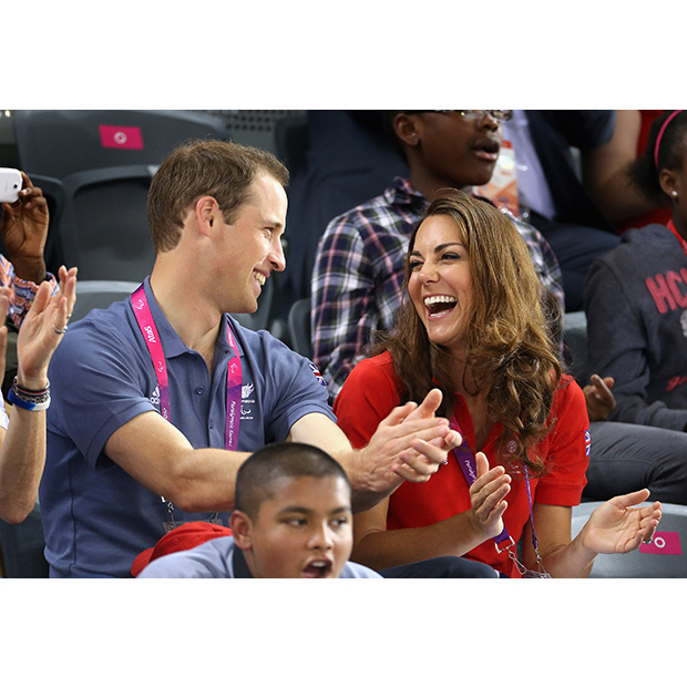 The laid-back couple share a laugh during the 2012 Summer Olympics in London. 