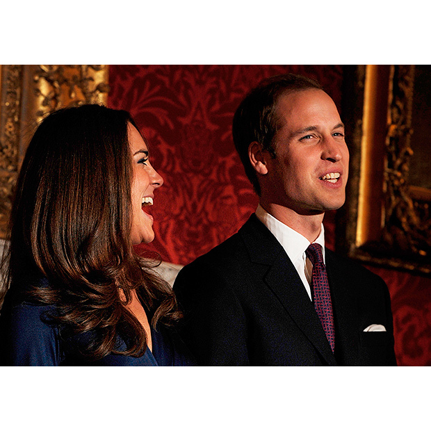 "When the future Duke and Duchess of Cambridge announced their engagement in 2010, William joked that Kate was with him because he's ""very funny.""