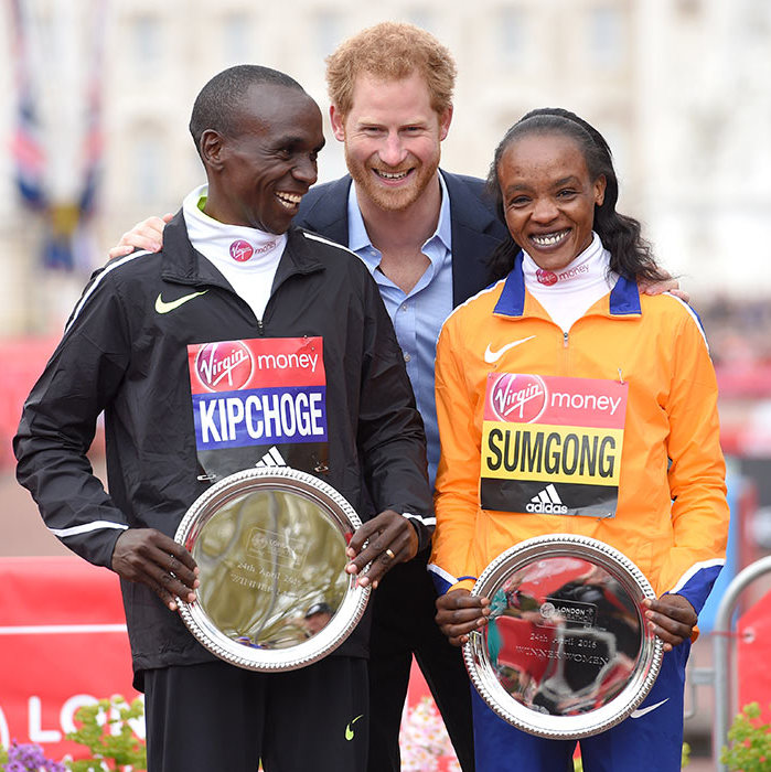 "The royal has always been passionate about working with sports charities, and posed with Eliud Kipchoge and Jemima Sumgong after they won the men and women races while supporting the Virgin London Marathon 2016.<br>The Prince has been busy filming for Sky Sports <em>Gamechangers</em>, and went to visit a school where one student asked if he was ever going to be King. He cheerfully replied: ""That's the question everybody wanted, let's be honest! You'll be glad to know, probably not! Oh look at the disappointment! I love that! I'm going to give you a high-five.""<br>Photo: © Getty Images"
