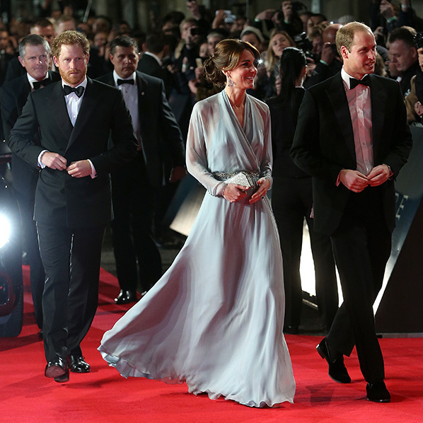 Prince Harry could have played 007 himself as he joined his brother and sister-in-law on the red carpet for the Royal Film Performance of the James Bond action thriller, <em>Spectre</em>.<br>Dressed in a black tuxedo while showing a little stubble, the Prince stole the show as he greeted the crowd at the Royal Albert Hall.<br>Photo: © Getty Images