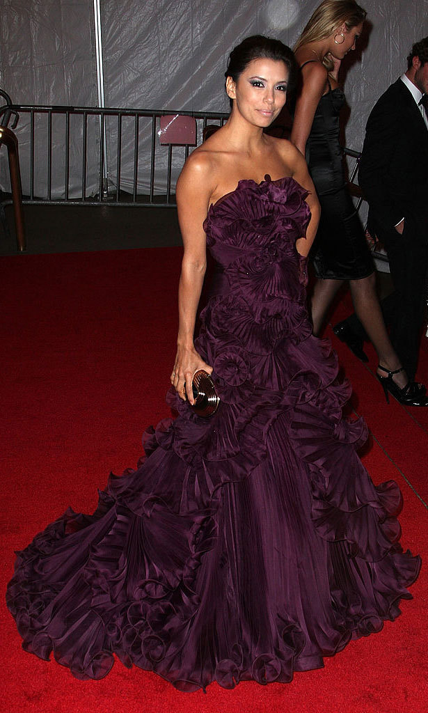 <strong>2008, Superheroes: Fashion and Fantasy</strong><br>Eva Longoria, Marchesa