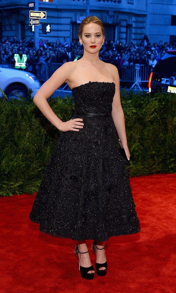 <strong>2013, PUNK: Chaos to Couture</strong><br>Jennifer Lawrence, Christian Dior