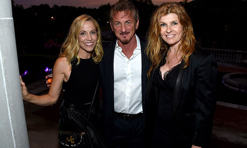 Sheryl Crow and Connie Britton (R) supported actor Sean Penn at the 1st Annual Nashville Shines for Haiti concert in support of his J/P Haitian Relief Organization. 