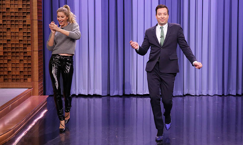 Over on <i>The Tonight Show</i>, Jimmy Fallon became a catwalk king after receiving a few pointers from runway expert Gisele Bündchen. 
