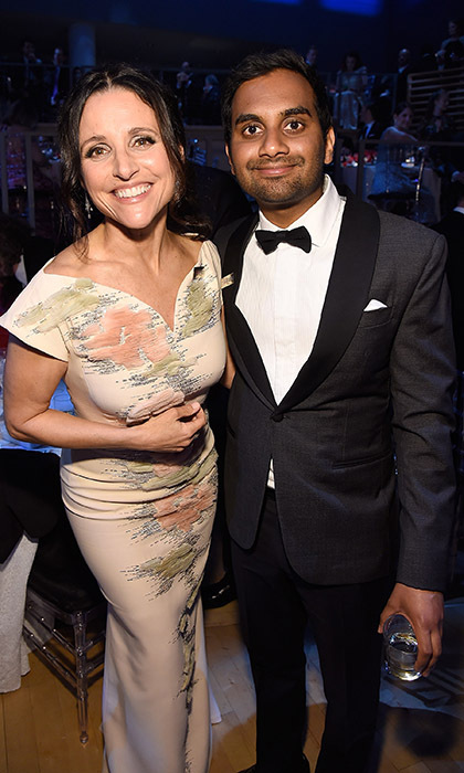 Two of comedy's biggest stars, Julia Louis-Dreyfus and Aziz Ansari, joined forces at the 2016 TIME 100 Gala in New York. 