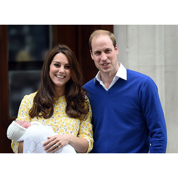 Taken shortly after her birth on May 2 2015, The Duke and Duchess of Cambridge are the picture of happiness as they introduce Princess Charlotte to the world outside The Lindo Wing at St Mary's Hospital, London.