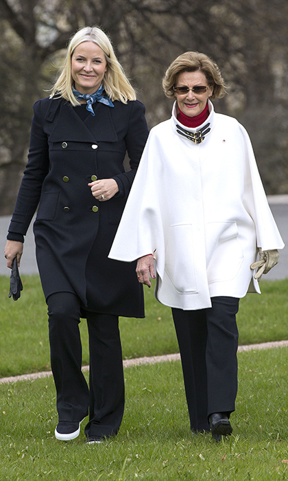 Crown Princess Mette-Marit and Queen Sonja of Norway