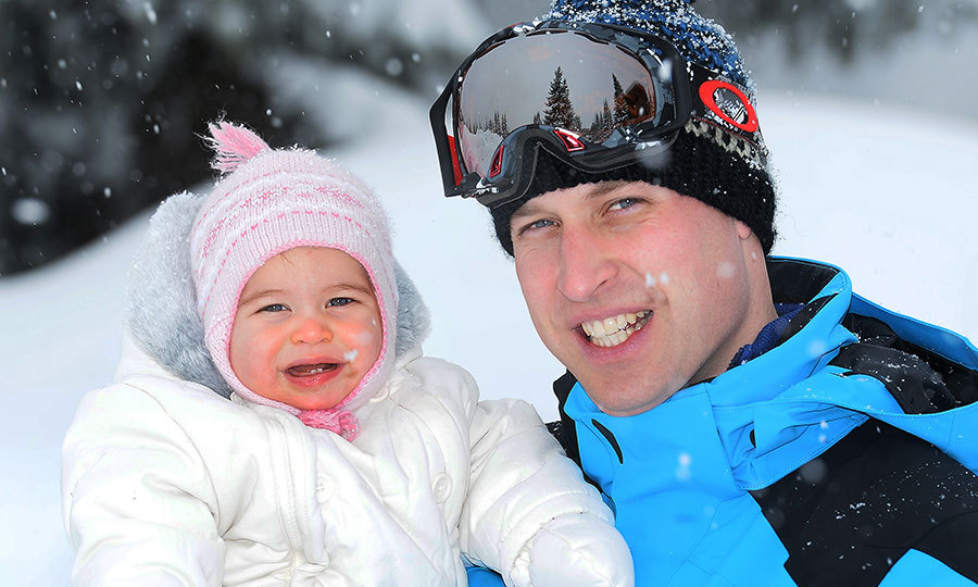 Charlotte enjoyed her first skiing trip in the Alps in March.