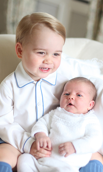 George and Charlotte pictured in their first portraits together.