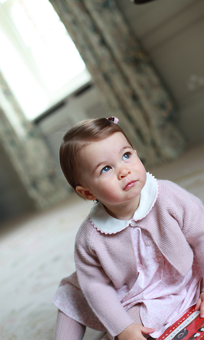 To mark her 1st birthday, Kensington Palace released a series of portraits of the princess taken by her doting mother the Duchess of Cambridge. 