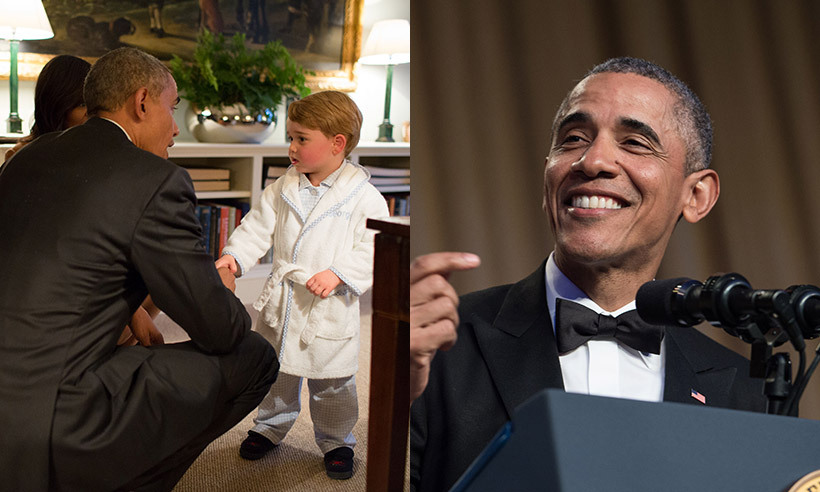Barack Obama Jokes That Prince George S Robe Was A Clear Breach Of Protocol