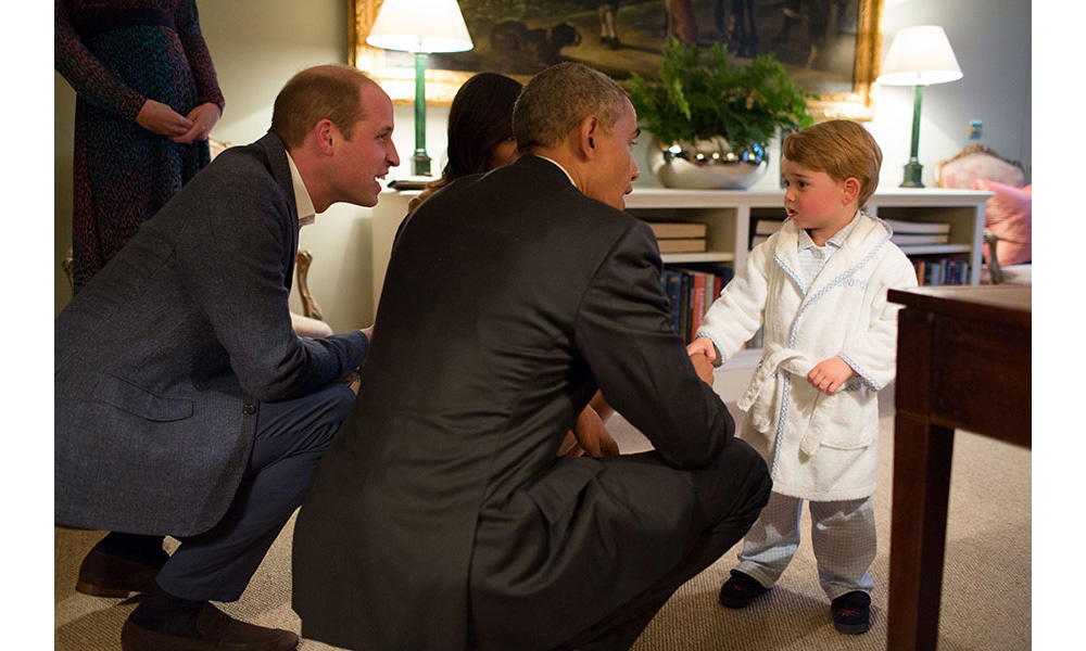 Prince George met Barack Obama in April.