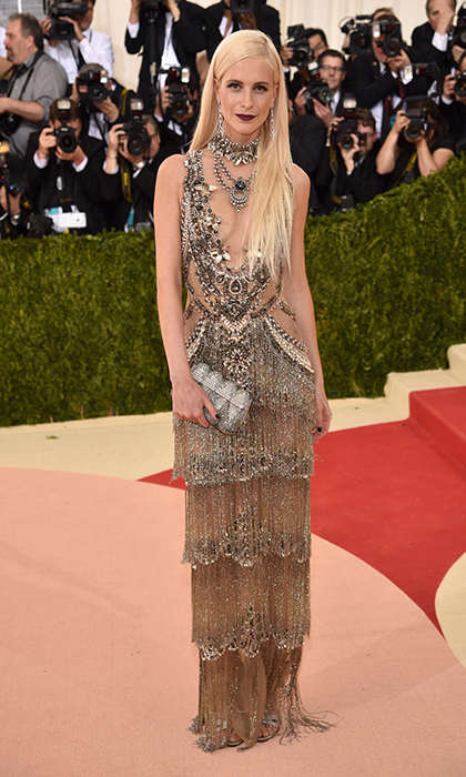 Poppy Delevingne in Marchesa.