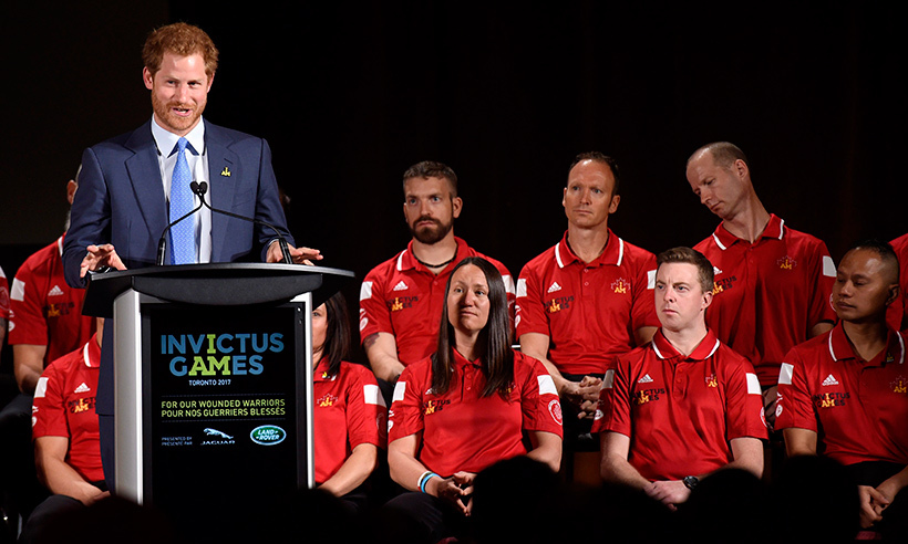 Harry delivered an inspiring speech during the official launch ceremony for the 2017 Toronto Invictus Games.<br>Photo: © Nathan Denette/CP