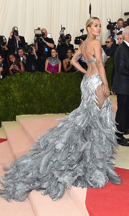 Rita Ora in Vera Wang