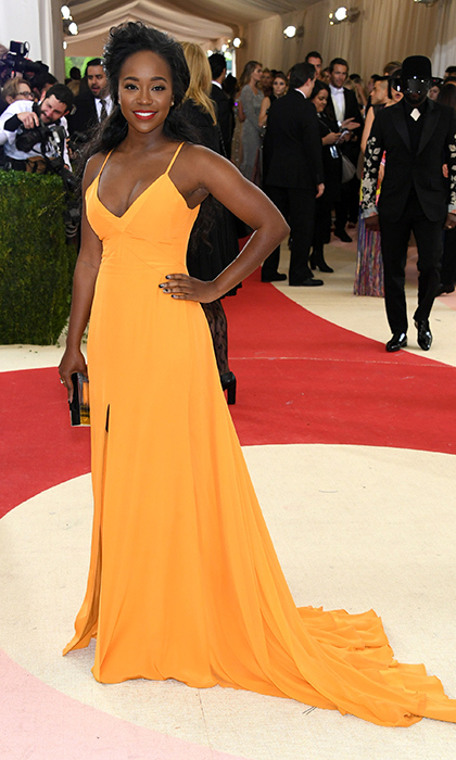 Aja Naomi King in Prabal Gurung