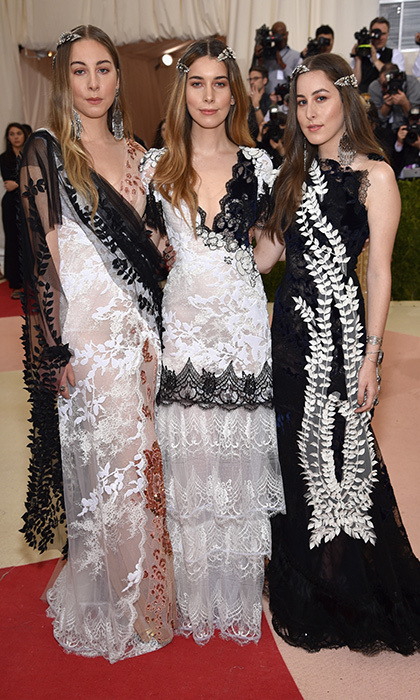 Este, Danielle and Alana Haim in Rodarte