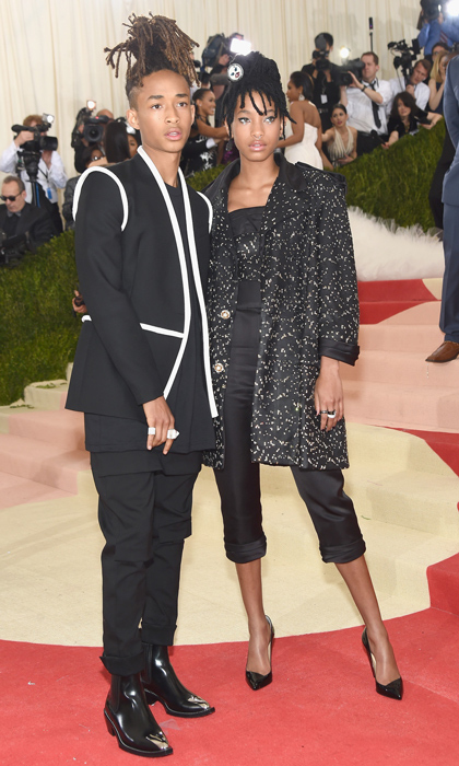 Jayden Smith in Louis Vuitton and Willow Smith in Chanel