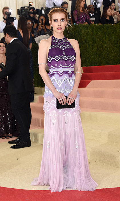 Emma Roberts in Tory Burch