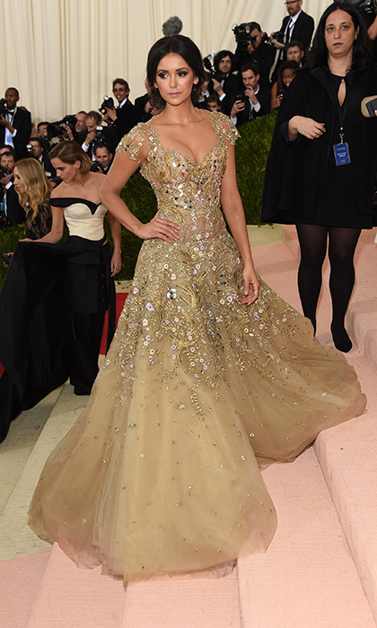 Nina Dobrev in Marchesa