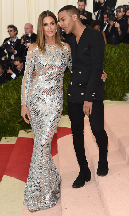 Cindy Crawford & Balmain's Olivier Rousteing
