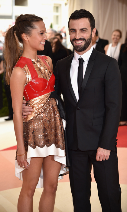 Alicia Vikander & Louis Vuitton's Nicolas Ghesquiere