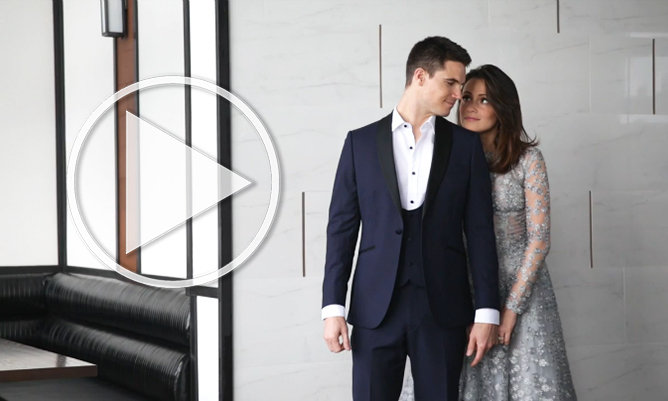Behind The Scenes Of Robbie Amell And Italia Ricci S Most Beautiful Photo Shoot