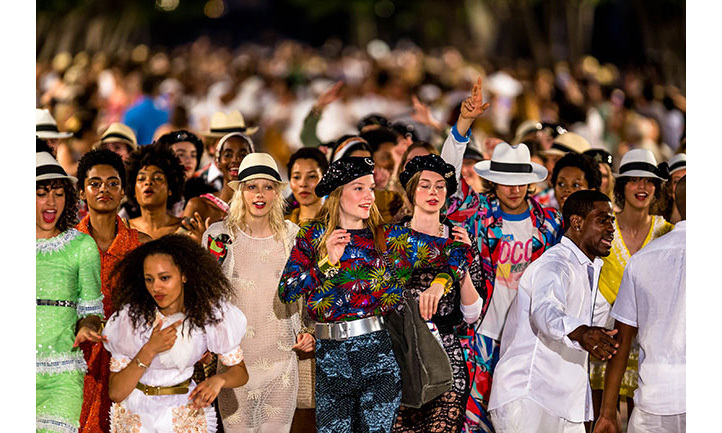 "Creative director Karl Lagerfeld says the latest collection was inspired by Cuba's ""cultural richness"".