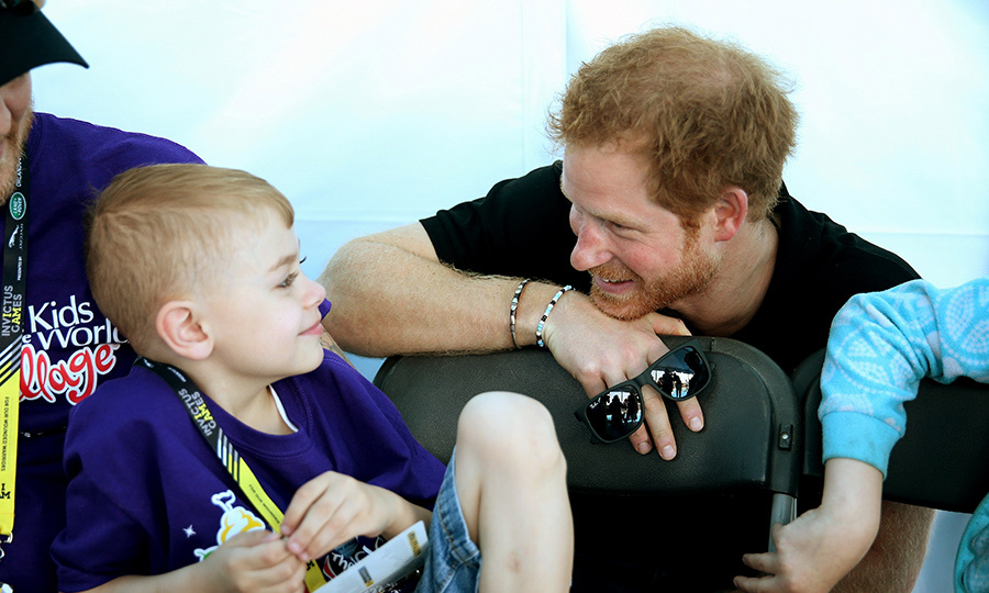 This young fan got some one-on-one time with the royal. 