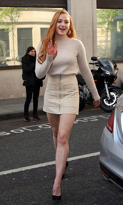 <i>Game of Thrones</i> star Sophie Turner left 'The North' behind to promote her new film <i>X-Men: Apocalypse</i> in London. 