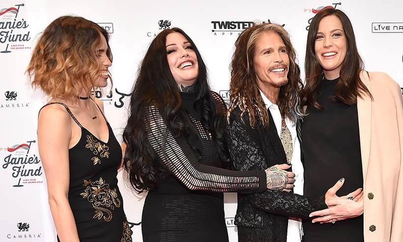Steven Tyler and his daughters, including expectant Liv Tyler (R), made it a family affair at his charity gala in New York.  