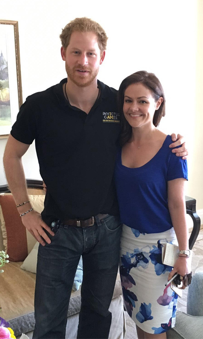 Prince Harry with HELLO!'s royal correspondent Emily Nash.