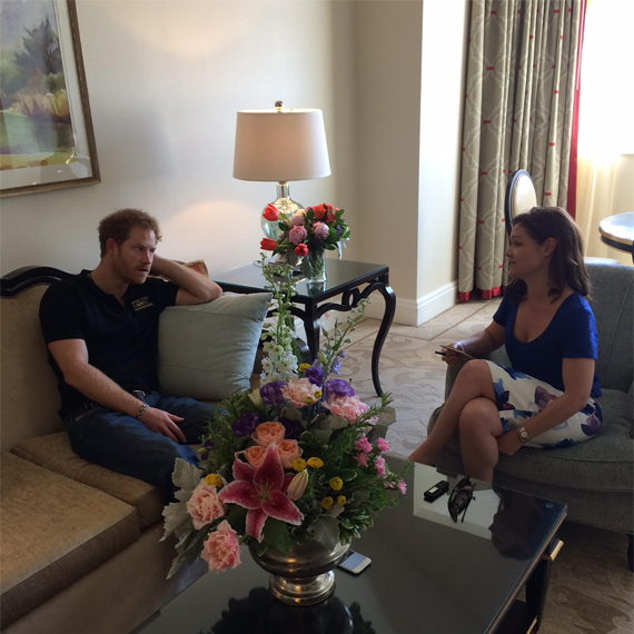 The interview took place in Orlando, Florida where Harry is launching the 2016 Invictus Games.